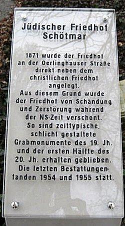 Jüdischer Friedhof Bad Salzuflen-Schötmar