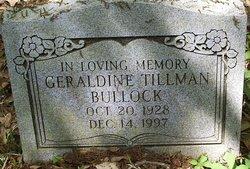 Geraldine <I>Tillman</I> Bullock