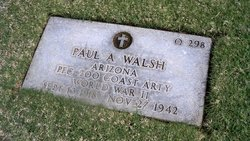PFC Paul A Walsh