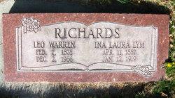 Ina Laura <I>Lym</I> Richards