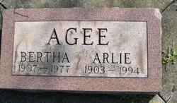 Bertha <I>Profitt</I> Agee