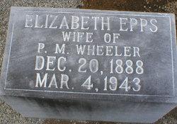 Elizabeth <I>Epps</I> Wheeler