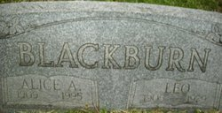 Alice <I>Harger</I> Blackburn