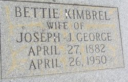 Bettie <I>Kimbrel</I> George