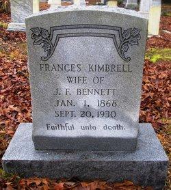 Frances <I>Kimbrell</I> Bennett