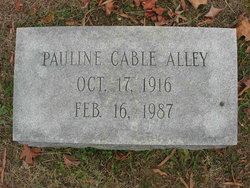 Mary Pauline <I>Cable</I> Alley
