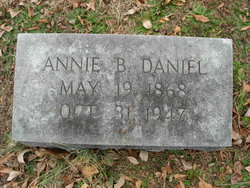 Annie B <I>Johnson</I> Daniel