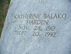 Katherine <I>Balako</I> Harden
