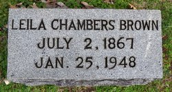 Leila <I>Chambers</I> Brown