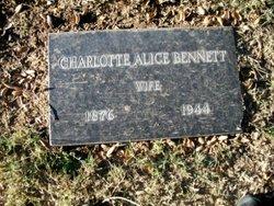 Charlotte Alice <I>Carter</I> Bennett