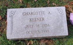 Charlotte A <I>Fetterhoff</I> Keener