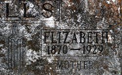Missouri Elizabeth <I>R</I> Wills