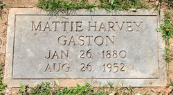 "Martha Delila ""Mattie"" <I>Harvey</I> Gaston"