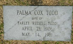 Palma Rebecca <I>Cox</I> Todd