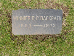 Winnifrid <I>Parker</I> Backrath