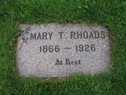 Mary T <I>Jackson</I> Rhoads