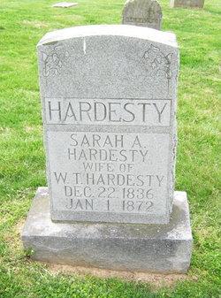 Sarah Ann <I>Snider</I> Hardesty
