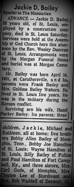Jackie D Bailey