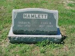 Sarah M <I>Parker</I> Hamlett