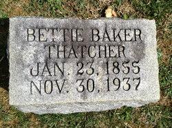 Elizabeth Henrietta <I>Baker</I> Thatcher