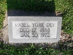 Mabel <I>York</I> Dey