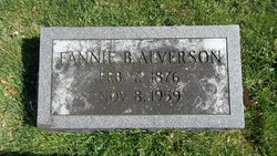 Fannie <I>Brooks</I> Alverson