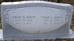 "Jaennie Hester ""Nannie"" <I>Cook</I> Martin"