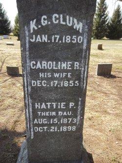 "Caroline ""Rilla"" <I>Johnson</I> Clum"