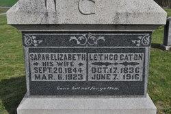 Sarah Elizabeth <I>Higginson</I> Caton