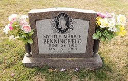 Myrtle <I>Marple</I> Benningfield