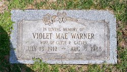 Violet Mae <I>Warner</I> Gatten