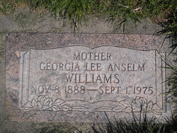 Georgia Lee <I>Anselm</I> Williams