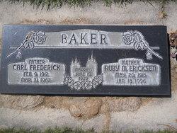 Ruby May <I>Erickson</I> Baker