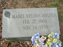 Mabel <I>Nelson</I> Holden