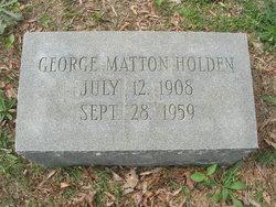 George Matton Holden