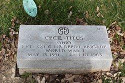 Pvt Cecil Harry Titus