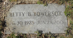 Betty <I>Brenneman</I> Bowersox