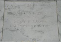 Ann Gregg <I>Simmons</I> Carver