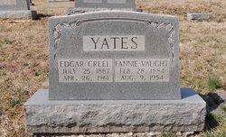 Fannie <I>Vaught</I> Yates