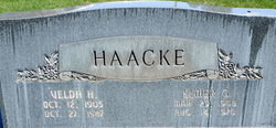 Velda Margarette <I>Hayward</I> Haacke