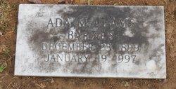 Ada M <I>Adams</I> Barnes