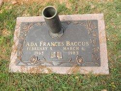 Ada Frances <I>Westbrook</I> Baccus