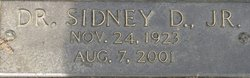 "Dr Sidney D. ""Sid"" Jones, Jr"