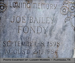 Joe Bailey Fondy