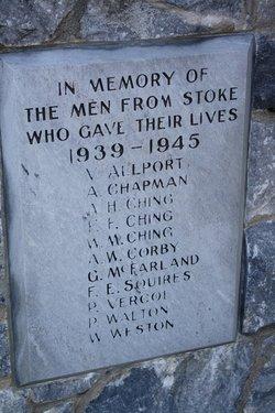 The Great War Memorial 1939-1945 Stoke, Nelson