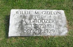 Willie M. <I>Gideon</I> Boozer