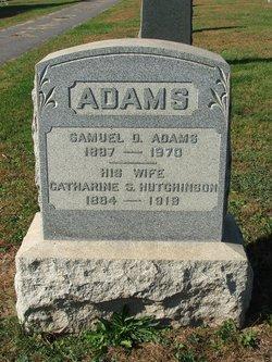 Catharine Sybilla <I>Hutchinson</I> Adams