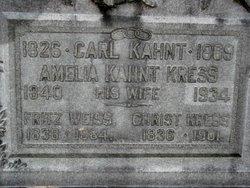 Amelia <I>Cramm</I> Kress