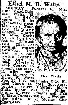 Ethel Maud <I>Bateman</I> Watts