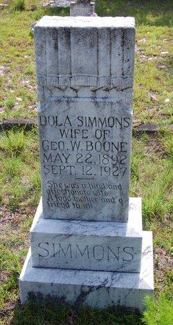 Dola <I>Simmons</I> Boone